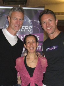 Rosemary with Mark Foster and Ian Waite